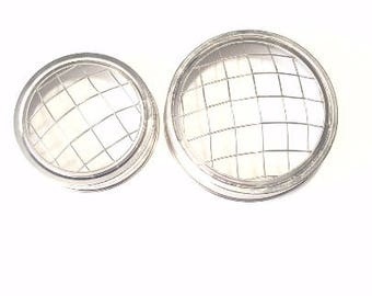 2 Mason Jar Wired Lids in Wide Mouth and Regular Mouth