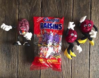 California Raisins - Vintage California Raisins Collectibles - California Raisins Figurines - California Raisins Collectible Toys
