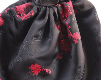 11.5 inch doll clothes - black/red gown (49)