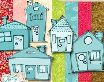 Little Houses Digital Stamp Kit