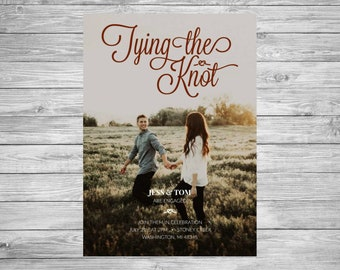 Wedding Invitation, Engagement, Save The Date, Wedding, Engaged, Tying The Knot, Personalized, Printable