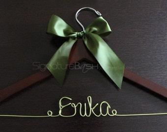 Colored Wire Bride Hanger / Wedding Hangers / Custom Bridal Hangers / Personalized Wedding Hangers