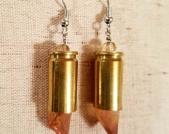 9mm Bullet Casing Earrings