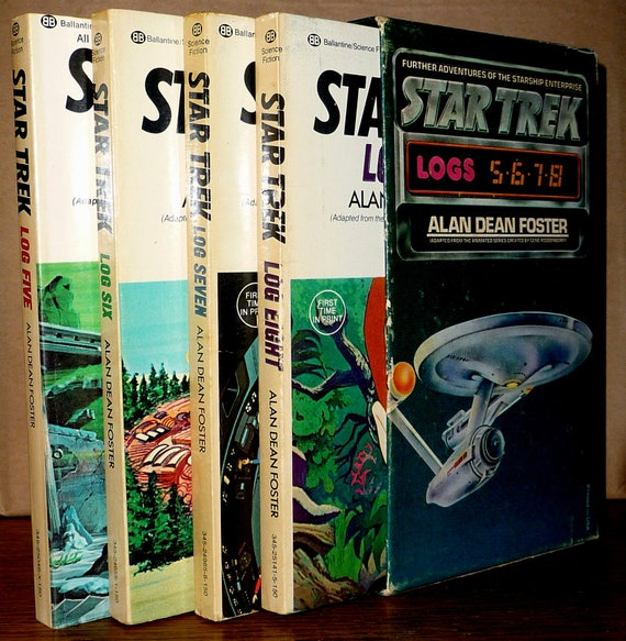 Star Trek Logs Five, Six, Seven, Eight (5, 6, 7, 8) by Alan Dean Foster - Four Book Set in Slipcase 1975 & 1976