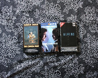 Sci Fi VHS Movie Set. Aliens, Demolition Man, Omega Man 3 VHS Tape Set. 70s 80s 90s Science Fiction Classic VHS Movie Night