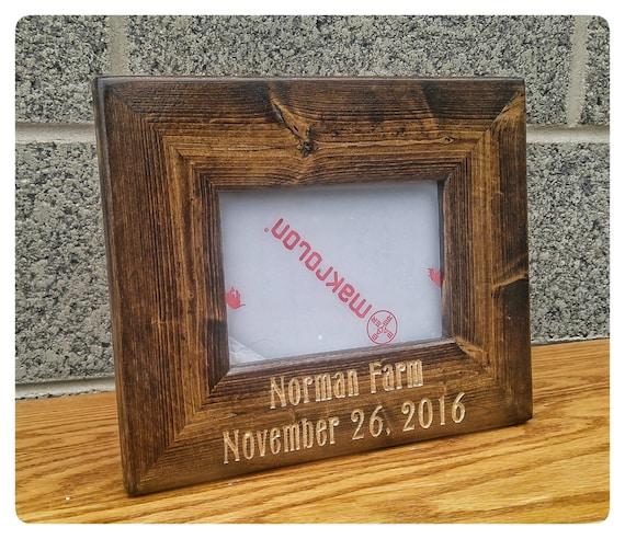 Personalised Photo Frame Wedding Gift: Personalized Frame Wedding Frame Wedding Gifts Rustic Wood
