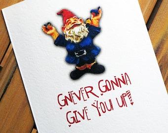 Funny Valentine Card I Love You Gnome