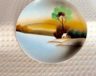 Vintage Handpainted Dish Small