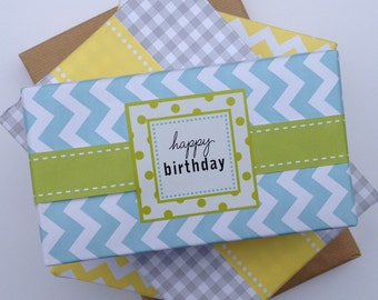 Narrow Green Paper Ribbon in Pattern of Your Choice