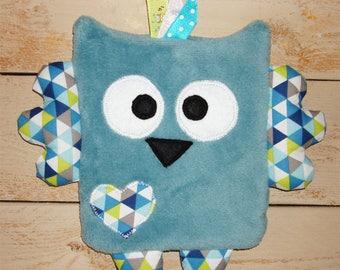 Cuddly soft flat fleece OWL