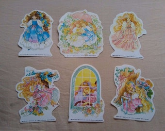 6 Rare Vintage Lady Lovely Locks Pixietail 1988 Stickers lot