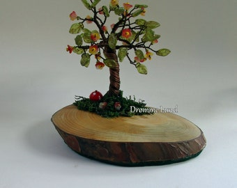 Blooming Tree Sculpture ~~~Wire Tree Sculpture With Flowers ~~ Spring Tree
