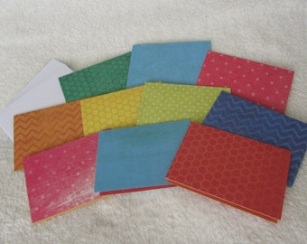 "Mini notecards with envelopes, 2.5"" x 3.5"", set of 10, holds gift cards or business cards"