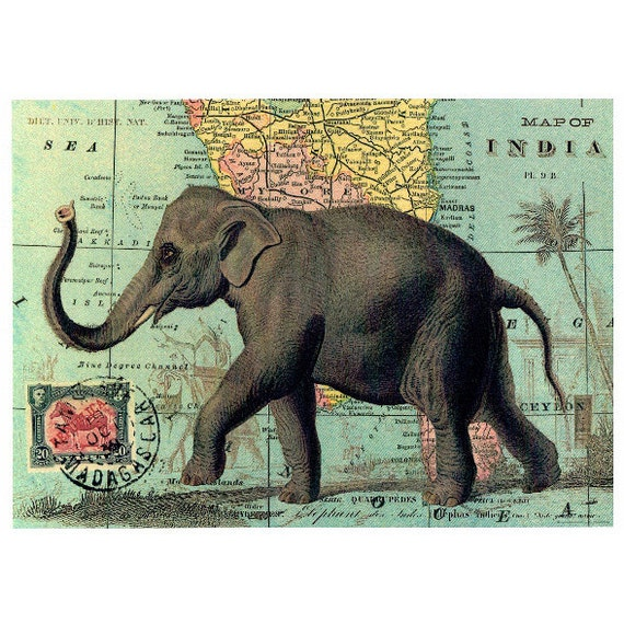 Elephant poster vintage elephant wall decor elephant wall poster elephant poster vintage elephant wall decor elephant wall poster vintage sign vintage map world map vintage world map decoupage gumiabroncs Images