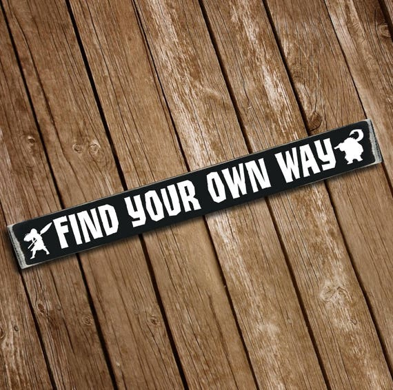 Find your own way moana disney wooden sign
