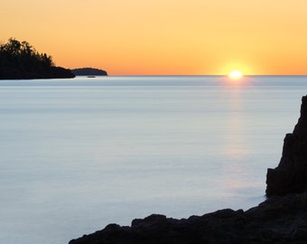 Minnesota Photography, Lake Superior Sunrise, North Shore Art, Great Lakes, Gooseberry Falls