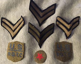 Vintage US ROTC Patches Six Patches in All