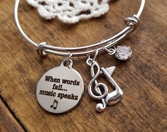 gift for music teacher, gift for band teacher, music gifts, music theme charm bracelet, gift for band member, music lover bracelet,