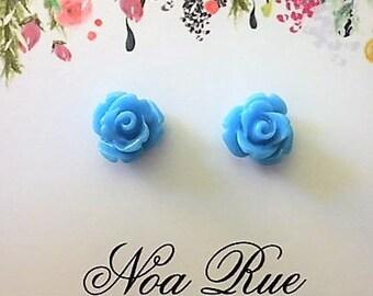 Blue Rose Resin 8mm