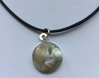 Tiny Sea Shells in Sand Necklace