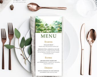 Forest Dreams - Menu Cards (Style 13777)