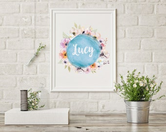 Floral Custom Print // Girls // Nursery // Print // Baby Shower // Kids Room // Gifts