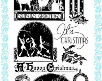 """Christmas Visit // Clear stamps pack (4""""x7"""") FLONZ"""