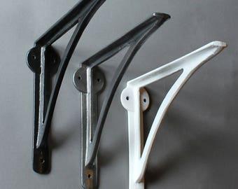 "Cast Iron Shelf Bracket - Shelving Support Brackets, Heavy Classic Brackets, Rustic Shelves, Industrial Kitchen Shelving, 8"" Inch Brackets"