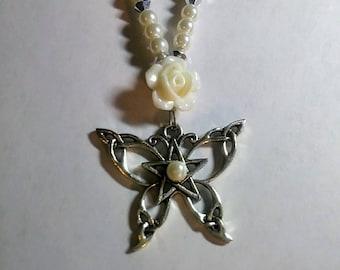 Celtic Knot Butterfly Pendant Necklace