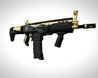 Custom Scar Ak Build Foam Dart Blaster (Black Gold)
