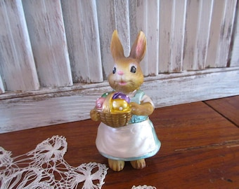 Easter Bunny Figurine Wonderfully Weird and Ready for Easter and Spring!