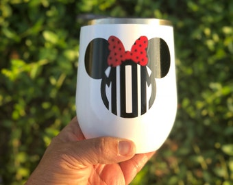 Disney mom // steel tumbler // wine glass // steel wine cup/: wine cup // Mother's Day gift// mom// gift for mom