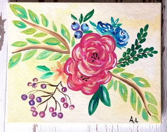 Summer Florals in Acrylic