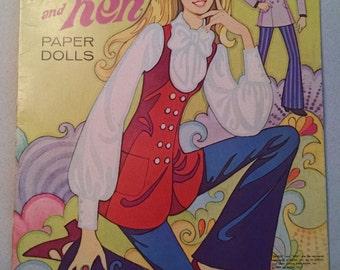 Vintage 1970 Whitman Barbie and Ken Paper Dolls