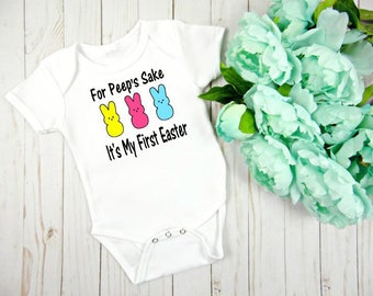 First Easter Onesie, Baby Girls First Easter Bodysuit, Baby's First Easter Onesie, Baby Boys First Easter