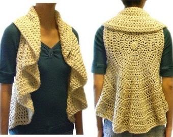 Circular Vest (9 Sizes) - PDF Crochet Pattern - Instant Download
