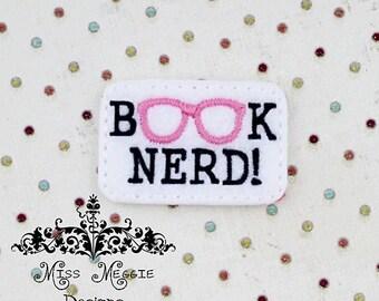 Book Nerd Geeky Digital ITH Feltie Embroidery Design File