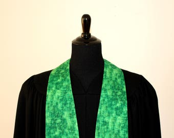 """Clergy Stole, Green #249, Pastor Stole, Minister Stole, 54"""" Length, Pastor Gift, Vestments, Church"""