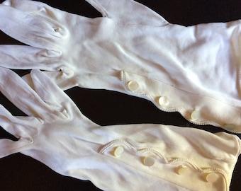 White Dressy Gloves