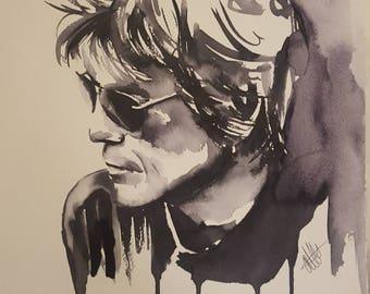Duff McKagen Original Ink Painting