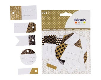 Assortment of 21 paper Gold - Artemio - Ref 14030074 - until the stock labels!