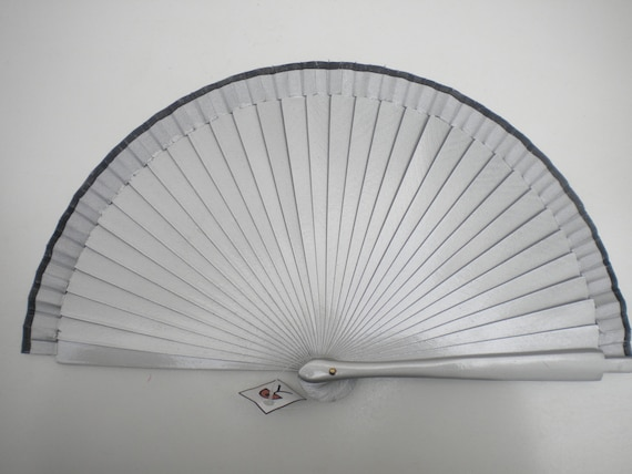 Silver and Black Hand Fan