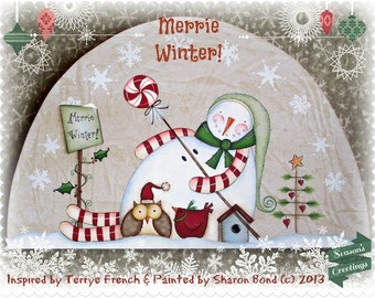 Merrie Winter, Sharon Bond, email pattern packeet