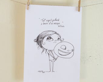 unique design (illustration in pencil on paper)