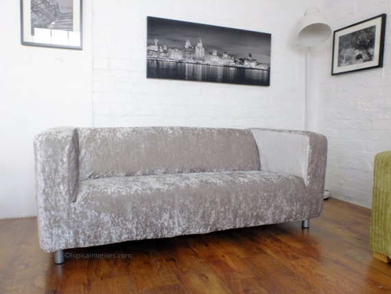 Ikea Ufficio Stampa : Slip cover for the ikea klippan 4 seat sofa luxury shimmer