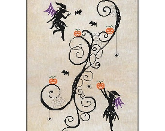 Wicked Witches - cross stitch chart and kit