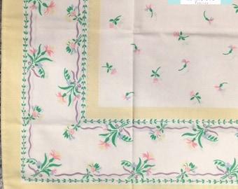 Vintage Pillowcase with Yellow Border