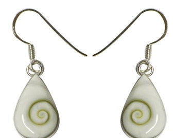 Shivaauge drop Silver earrings silver back earrings 925 sterling silver Shiva eye eye jewelry (No. OSH-28B)