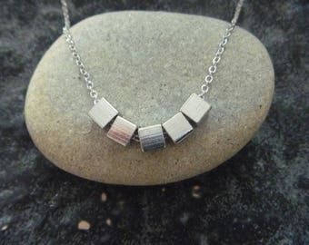 Necklace cubic silver