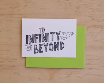 To Infinity And Beyond - Movie Quotes Letterpress Card